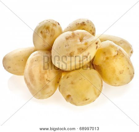 skinless potato tuber isolated on white background cutout