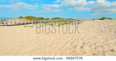 Hand Rail And Sand