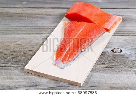 Fresh Salmon Fillet Ready To Cook
