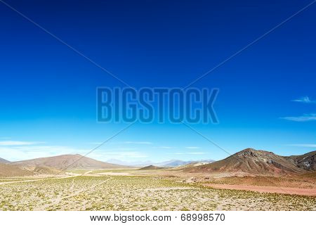 High Plains Landscape In Bolivia