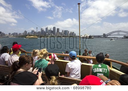 Tourist On Manley Ferry
