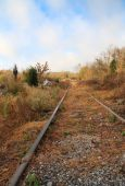 picture of knoxville tennessee  - Railroad tracks at an abandoned marble quarry Meads Quarry Knoxville Tennessee - JPG