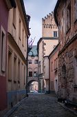 foto of bohemia  - The Street in the old town Tabor  - JPG