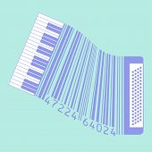 stock photo of accordion  - This accordion is also a UPC code for Print or Web - JPG