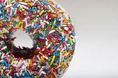 foto of jimmy  - Rainbow sprinkles on doughnut - JPG