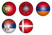 foto of armenia  - balls with flags of countries - JPG
