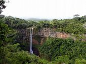 stock photo of chamarel  - Chamarel Falls In Mauritius Island, Indian Ocean