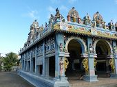 stock photo of tamil  - Tamil Surya Oudaya Sangam Temple, Grand Baie, Mauritius