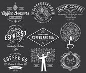 foto of classic art  - Vector coffee badges and crests for any use - JPG