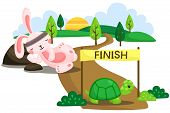 image of tortoise  - the race of a rabbit and a tortoise - JPG
