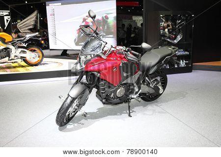 Bangkok - November 28:honda Crosstourer Motorcycle On Display At The Motor Expo 2014 On November 28,