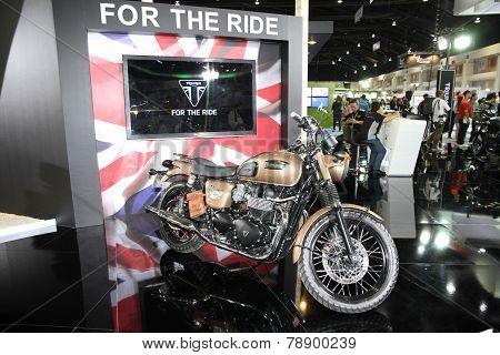 Bangkok - November 28: Triumph Rockers Motorcycle On Display At The Motor Expo 2014 On November 28,