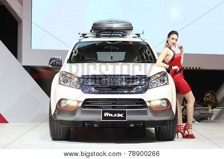 Bangkok - November 28: Isuzu Mu-x Car With Unidentified Model On Display At The Motor Expo 2014 On N