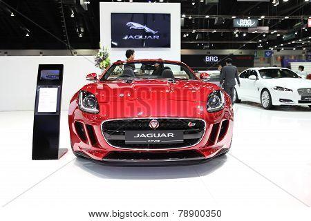 Bangkok - November 28:jaguar F-type Car On Display At The Motor Expo 2014 On November 28, 2014 In Ba