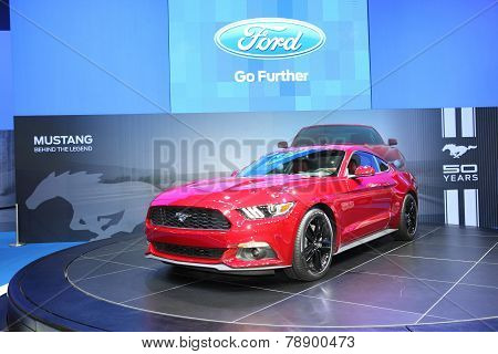 Bangkok - November 28: Ford Mustang Car On Display At The Motor Expo 2014 On November 28, 2014 In Ba