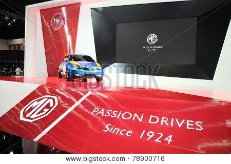 Bangkok - November 28: Mg Car On Display At The Motor Expo 2014 On November 28, 2014 In Bangkok, Tha