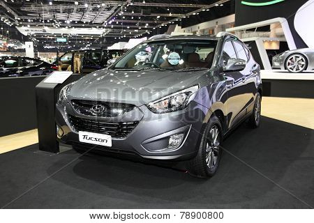 Bangkok - November 28: Hyundai Tucson Car On Display At The Motor Expo 2014 On November 28, 2014 In