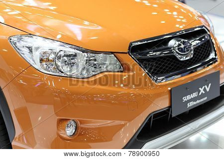 Bangkok - December 3:colsed Up Lighting Of Subaru Xv Car At The Motor Expo 2014 On December 3, 2014