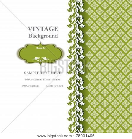 Vintage background concept in editable vector format