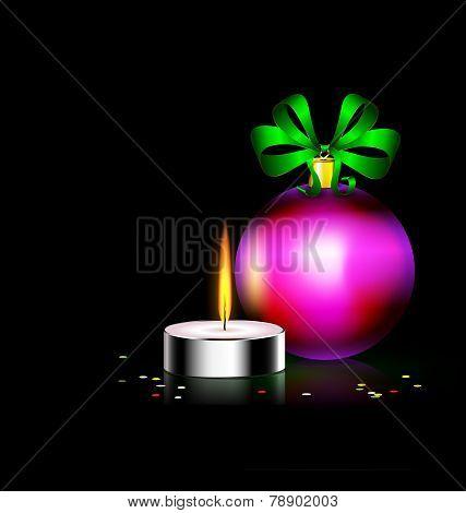 candle Christmas ball