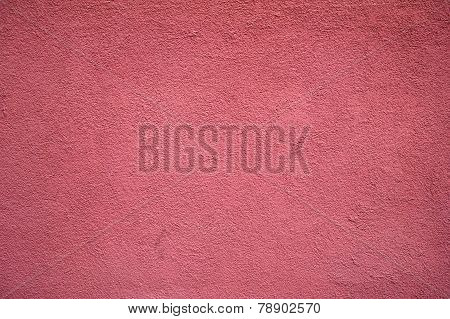 Texture Of Old Wall Covered With Crimson Stucco