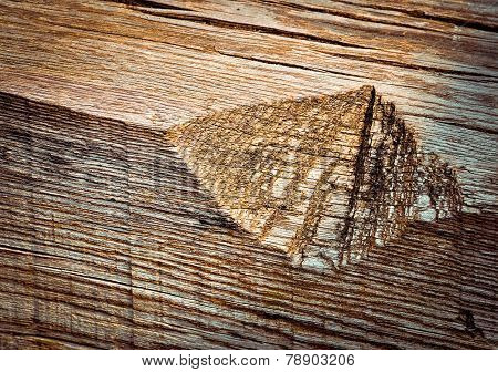 Notch In Old Wood
