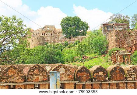 Massive Chittorgarh Fort Rajasthan India