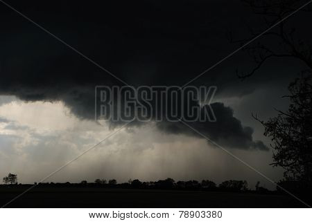 storm clouds and rain