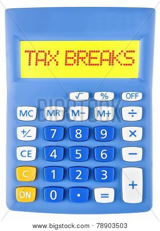 Calculator With Tax Breaks On Display