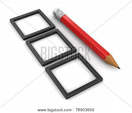 Pencil and CHOICE  (clipping path included)