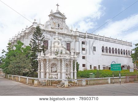 Immaculate Colonial Style St Pauls Church Diu Gujarat India