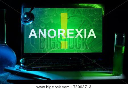 Notebook with words anorexia