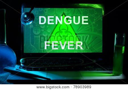 Notebook with words dengue fever