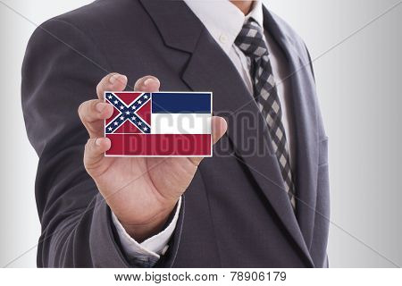 Businessman with Mississippi State Flag