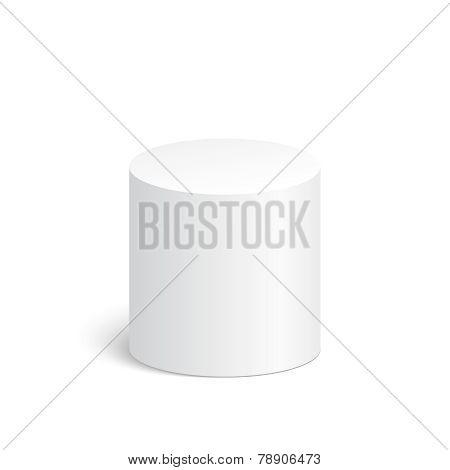 Geometric shapes, 3d cylinder.
