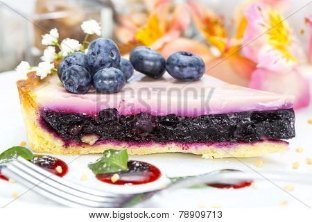 piece of blueberry pie