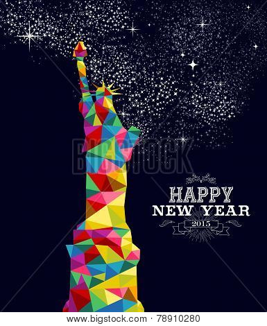 New Year 2015 Usa Poster Design