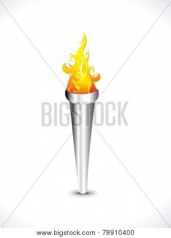 Abstract Artistic Flaming Torch