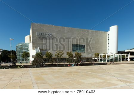 Habima Theatre, Israel's National Theatre located at the edge of Rothschild blvd