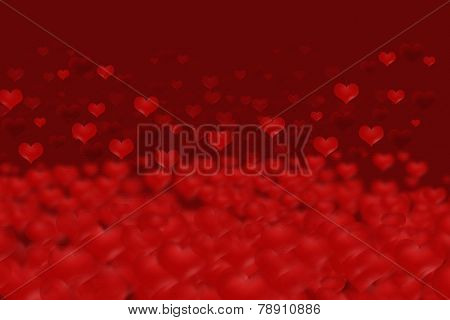 Blurred Hearts Background