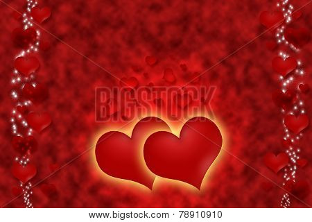Hot Red Hearts For All Love.