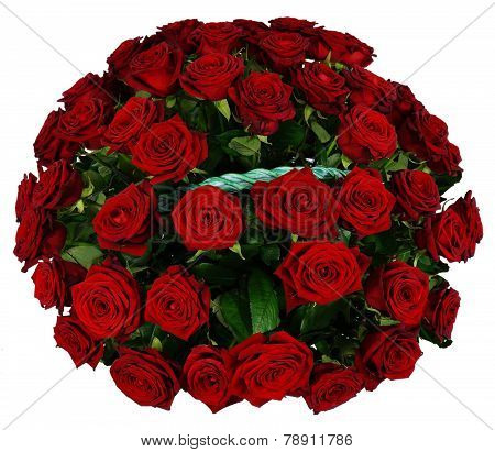 Basket Of 51 Red Rose