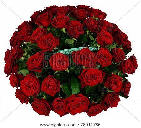 Basket Of 51 Red Rose