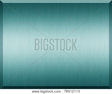 Cyan Metallic Plate