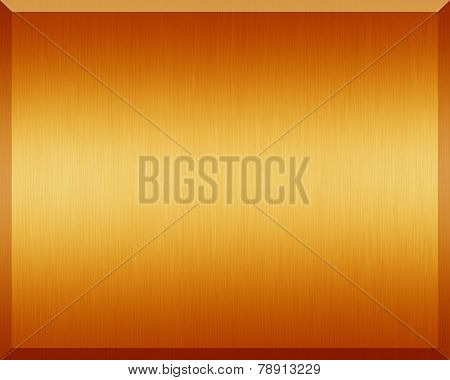 Orange Metallic Plate