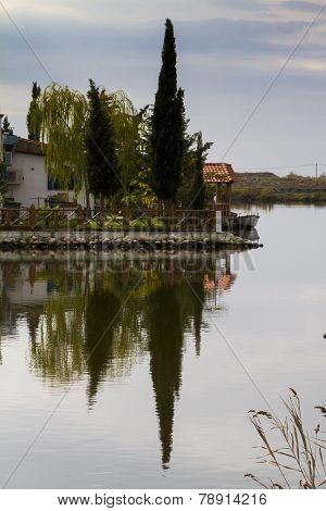 Saint Nikolaos Monastery. Porto Lagos Area At Thrace, Greece.