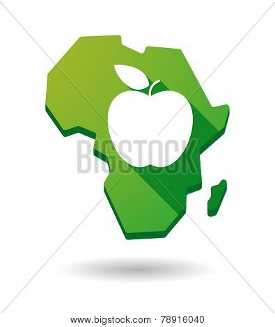 Africa Continent Map Icon With A Fruit