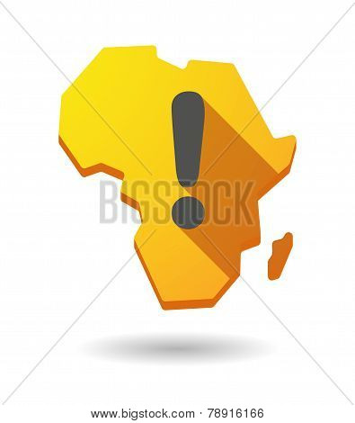 Africa Continent Map Icon With A