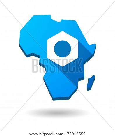 Africa Continent Map Icon With A Nut