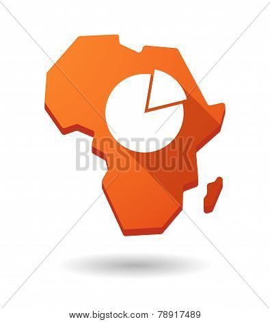 Africa Continent Map Icon With A Pie Chart